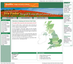 Camping and Caravan Site Finder